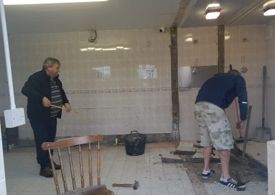 Lynders Mobile Home Park - Ladies Toilets Refurbished 2019 - DURING RENOVATIONS