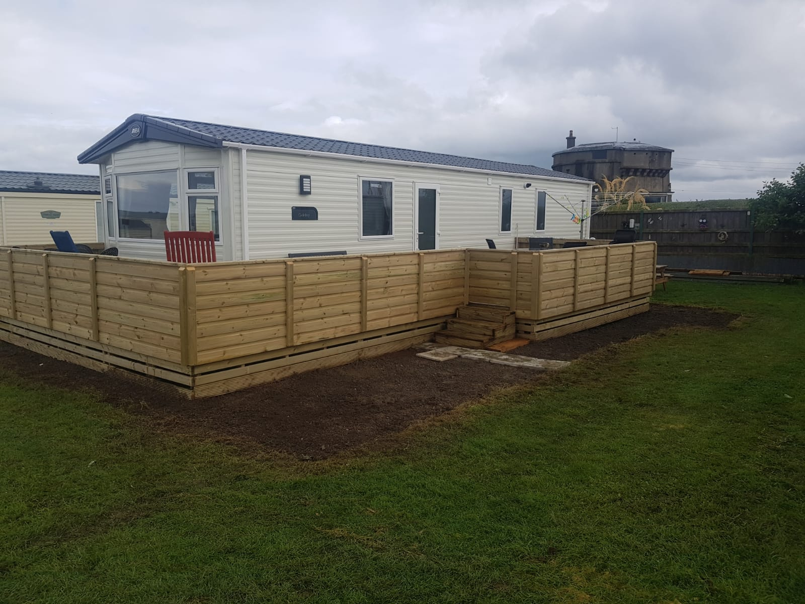 New Mobile Home & Decking Steps @ Lynders Mobile Home Park